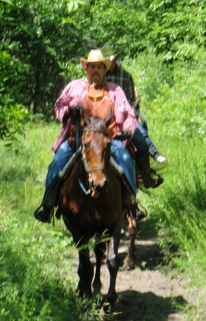Our friend Dan and Mav on the trail in June 2010